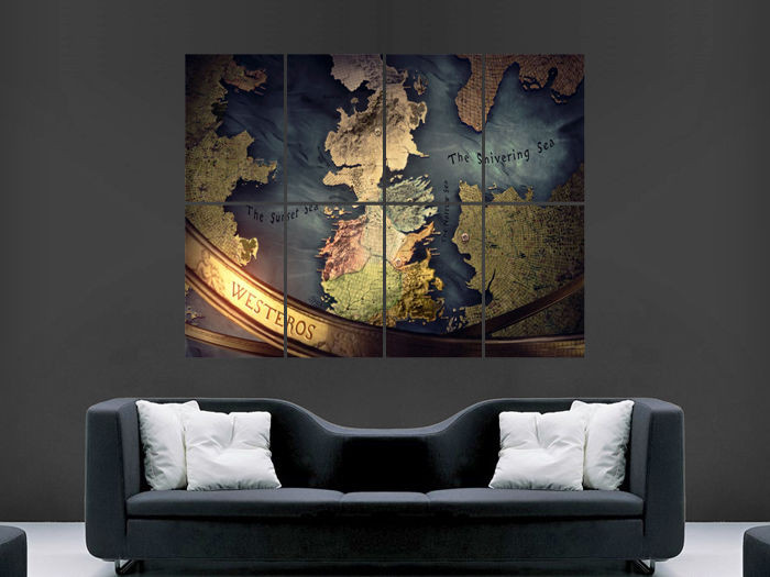 Best ideas about Game Of Thrones Wall Art . Save or Pin GAME OF THRONES POSTER MAP TV SERIES IMAGE HUGE LARGE WALL Now.