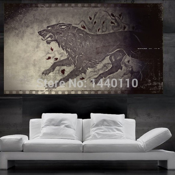 Best ideas about Game Of Thrones Wall Art . Save or Pin Game of thrones Stark Direwolf Sigil Poster print wall art Now.