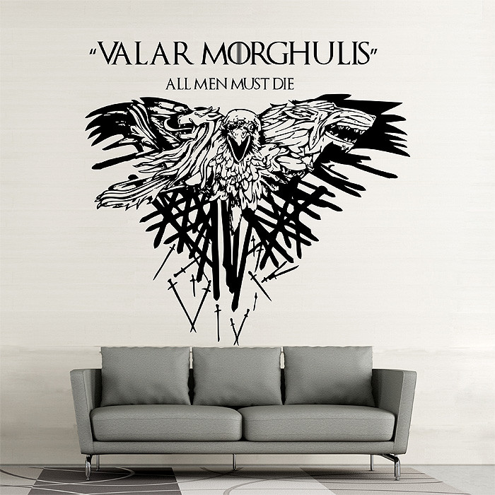 Best ideas about Game Of Thrones Wall Art . Save or Pin Game of Thrones Valar Morghulis Vinyl Wall Art Decal Now.