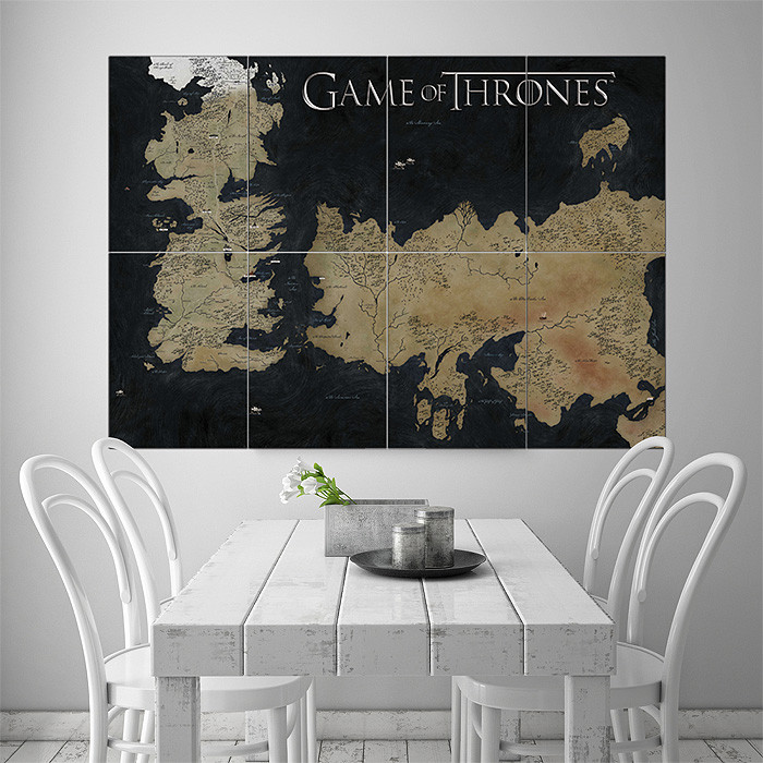 Best ideas about Game Of Thrones Wall Art . Save or Pin Game Thrones World Map Block Giant Wall Art Poster Now.