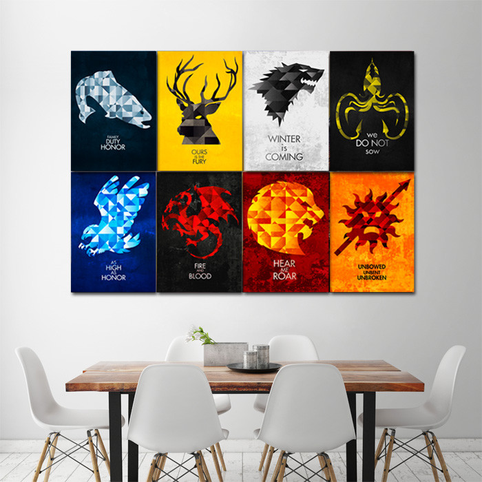 Best ideas about Game Of Thrones Wall Art . Save or Pin Game of Thrones House Sigils Block Giant Wall Art Poster Now.