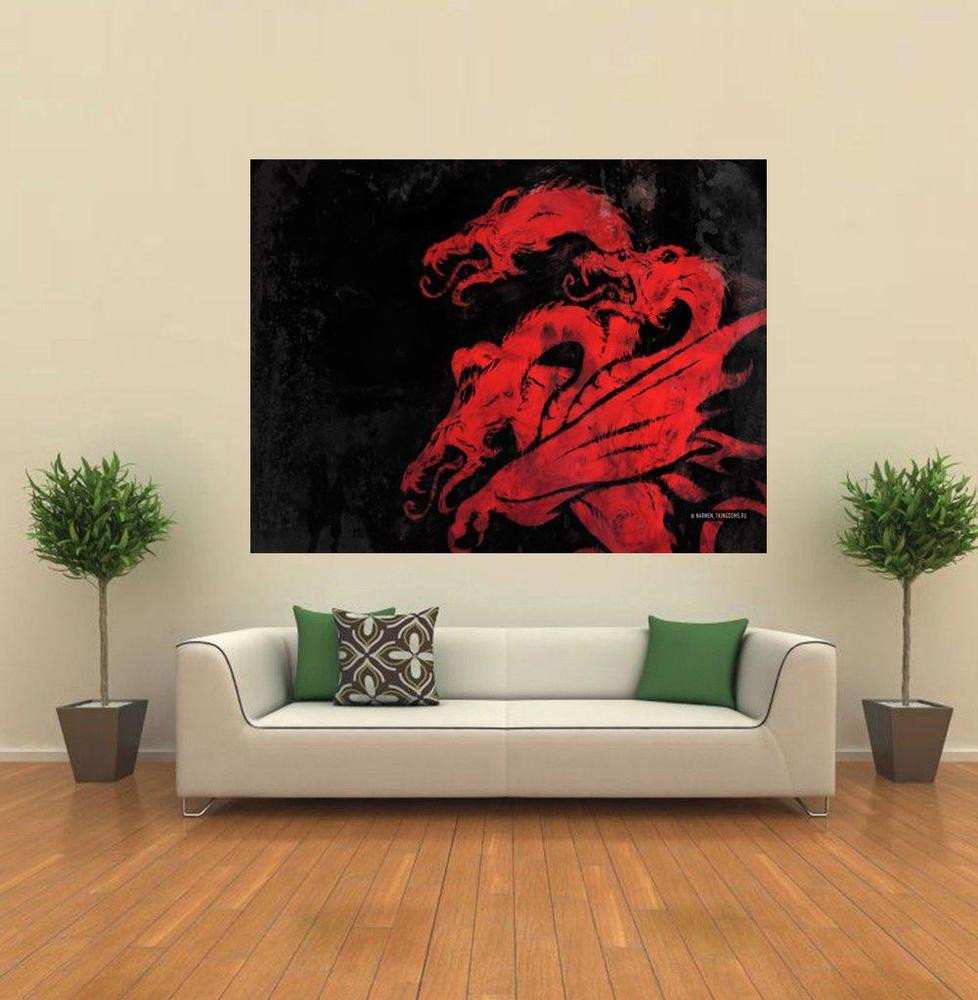 Best ideas about Game Of Thrones Wall Art . Save or Pin Game of Thrones House Targaryen Dragon Crest GIANT WALL Now.