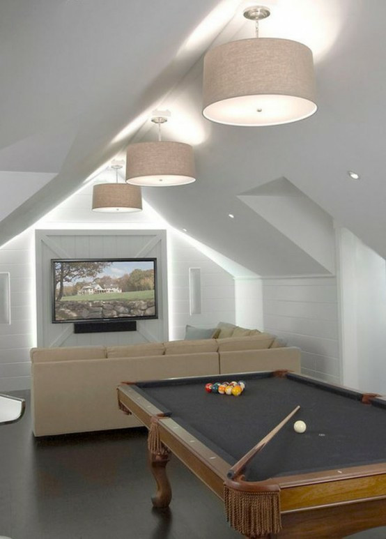 Best ideas about Game Room Lighting . Save or Pin Interior Design Ideas – 60 Game Room Designs For Men Now.