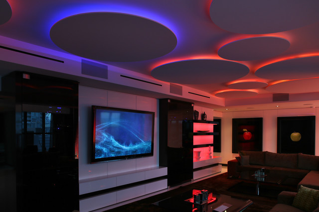 Best ideas about Game Room Lighting . Save or Pin Miami Penthouse Mancave Gameroom LED Lighting Now.