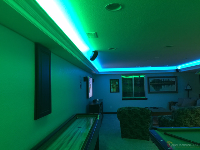 Best ideas about Game Room Lighting . Save or Pin Man Cave Game Room LED Lighting Contemporary Family Now.