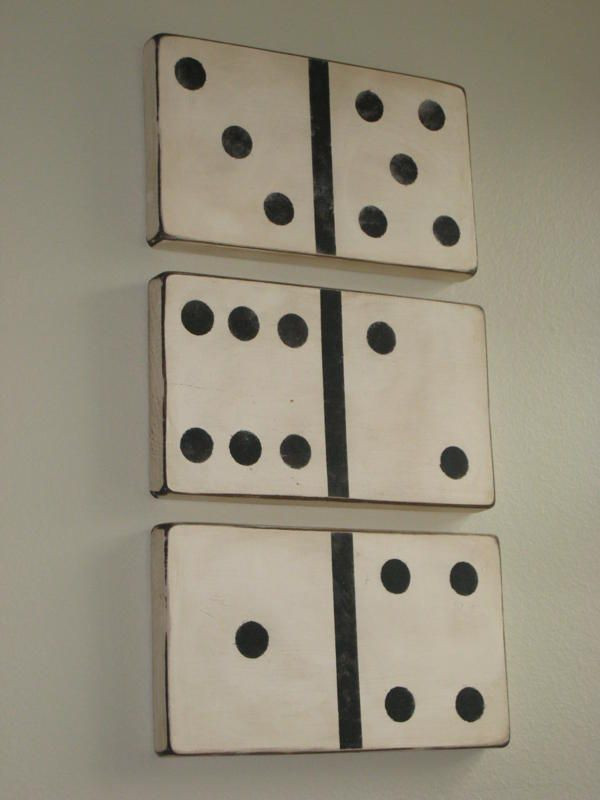 Best ideas about Game Room Wall Decor . Save or Pin Ashley s Vintage Looking Dominoes Tutorial Now.