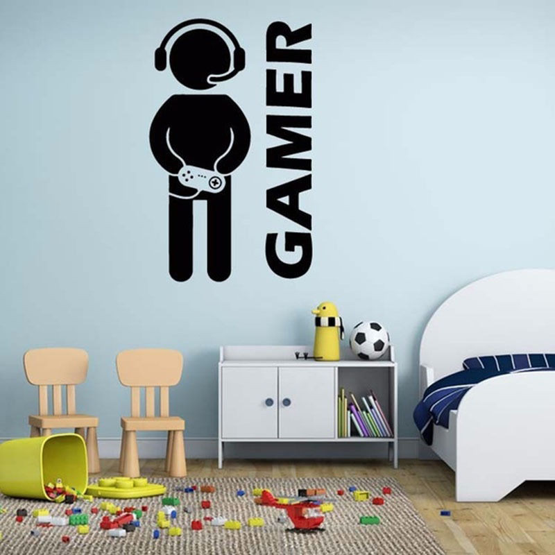 Best ideas about Game Room Wall Decor . Save or Pin Removable DIY Room Decor Games Gamer Quote Word Decal Now.