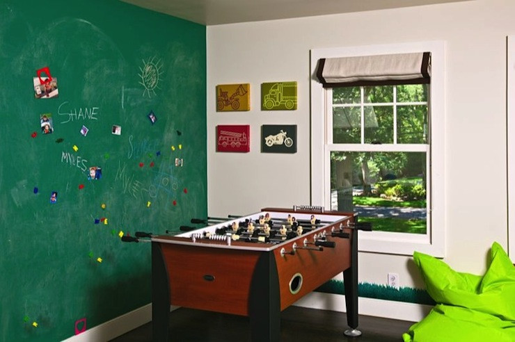 Best ideas about Game Room Wall Decor . Save or Pin Kids Game Room Transitional boy s room Melanie Now.