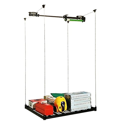 Best ideas about Garage Ceiling Storage Lift . Save or Pin 4FT x 4FT Celling Mounted Rack Garage Storage Rack Now.