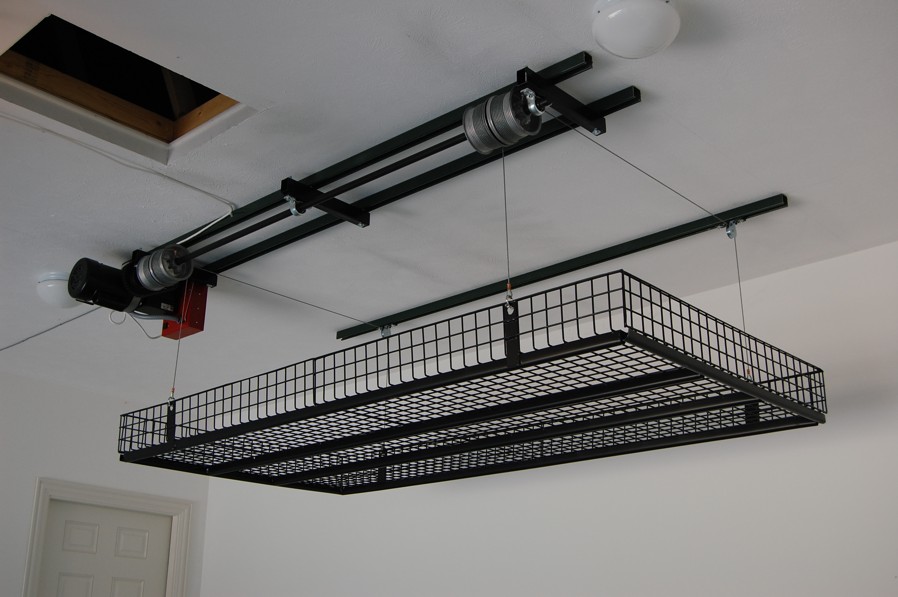 Best ideas about Garage Ceiling Storage Lift . Save or Pin Unique Lift Garage Ceiling Storage Now.
