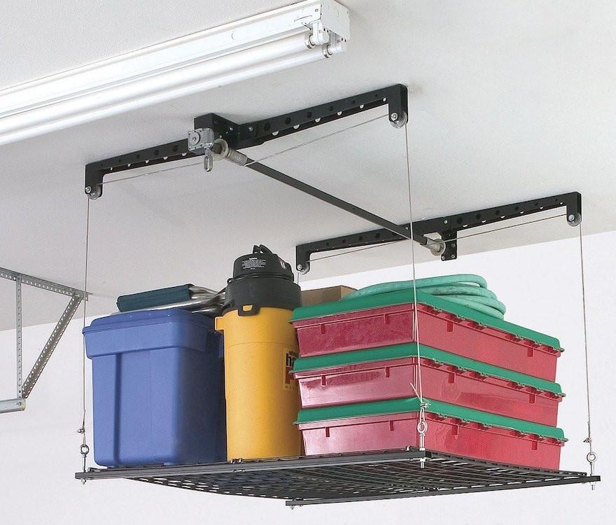 Best ideas about Garage Ceiling Storage Lift . Save or Pin Installing Garage Ceiling Storage Now.