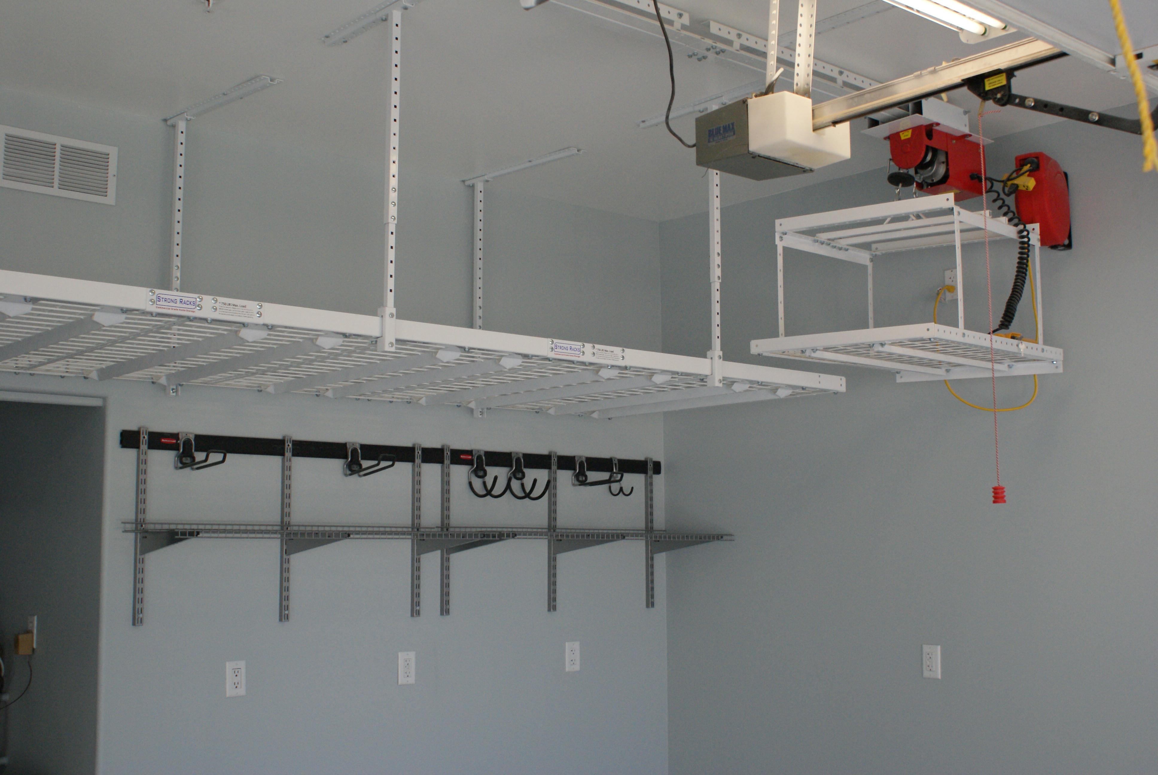 Best ideas about Garage Ceiling Storage Lift . Save or Pin Building Overhead Garage Storage Garage Door Now.