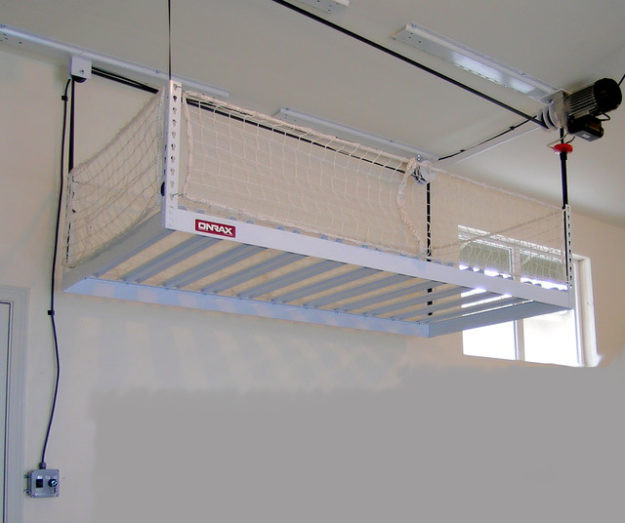 Best ideas about Garage Ceiling Storage Lift . Save or Pin Overhead Ceiling Garage Storage Ideas Everything That You Now.