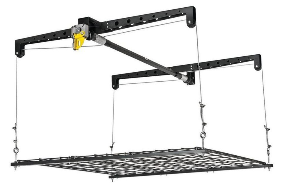 Best ideas about Garage Ceiling Storage Lift . Save or Pin Heavy Duty Garage Ceiling Cable Lift Storage Rack Platform Now.