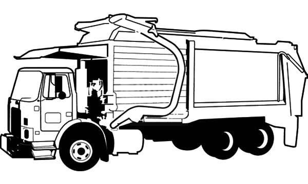Garbage Truck Printable Coloring Pages  Garbage Truck Picture Coloring Pages Download & Print
