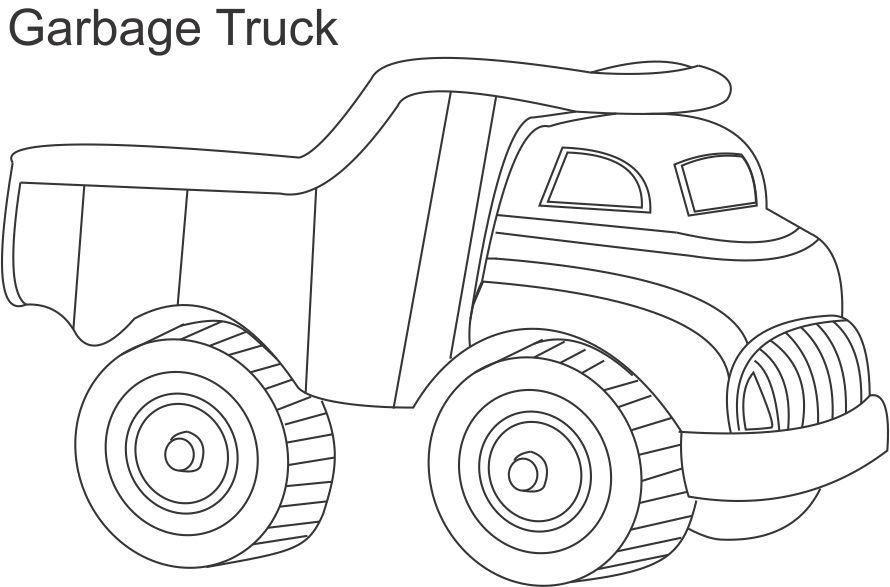 Garbage Truck Printable Coloring Pages  Garbage Truck Coloring Page AZ Coloring Pages