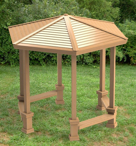 Best ideas about Gazebo Plans DIY . Save or Pin Hexagonal Garden Gazebo with Benches Building Plans DIY Now.