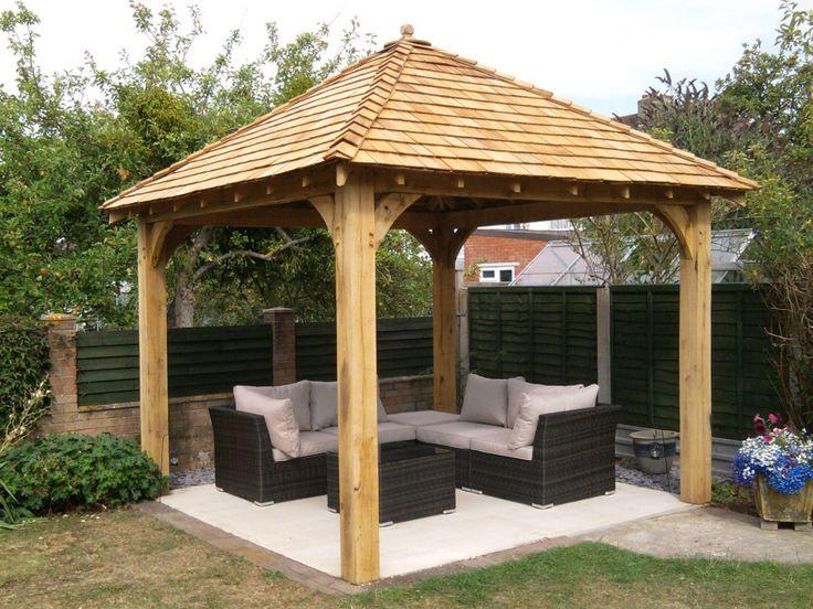 Best ideas about Gazebo Plans DIY . Save or Pin Oak gazebo 3mx3m including cedar shingles DIY kit Now.