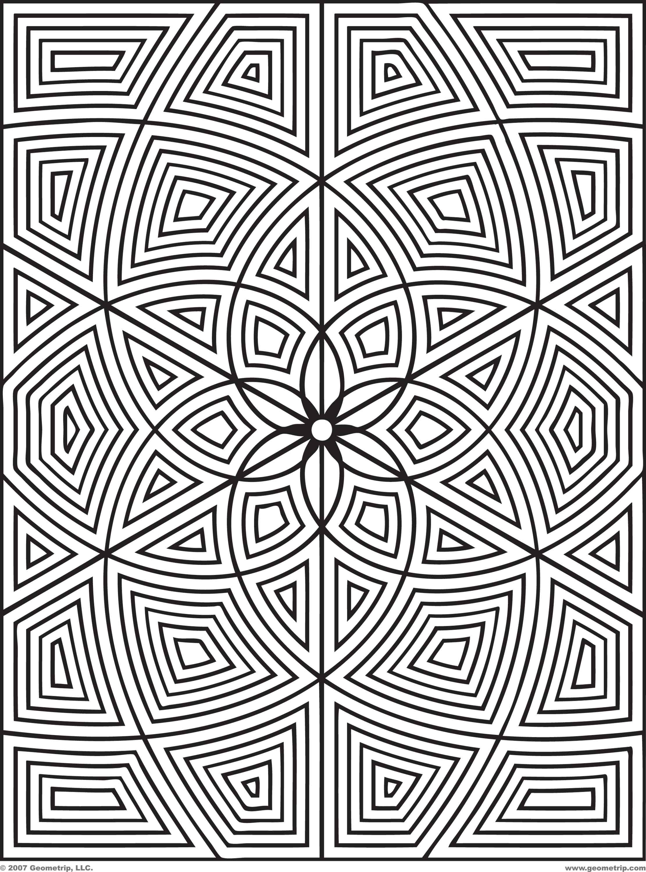 Best ideas about Geometric Coloring Pages For Adults . Save or Pin Free Geometric Coloring Pages For Adults Printable Kids Now.