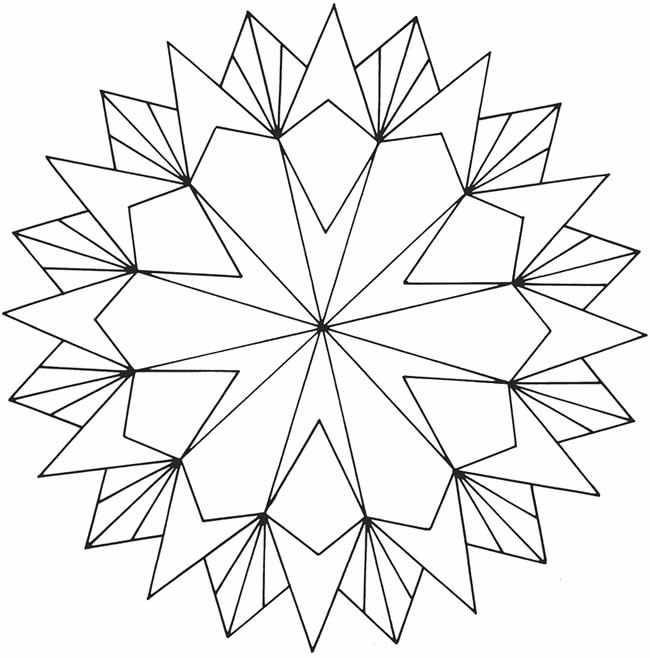 Best ideas about Geometric Coloring Pages For Adults . Save or Pin Free Printable Geometric Coloring Pages for Adults Now.