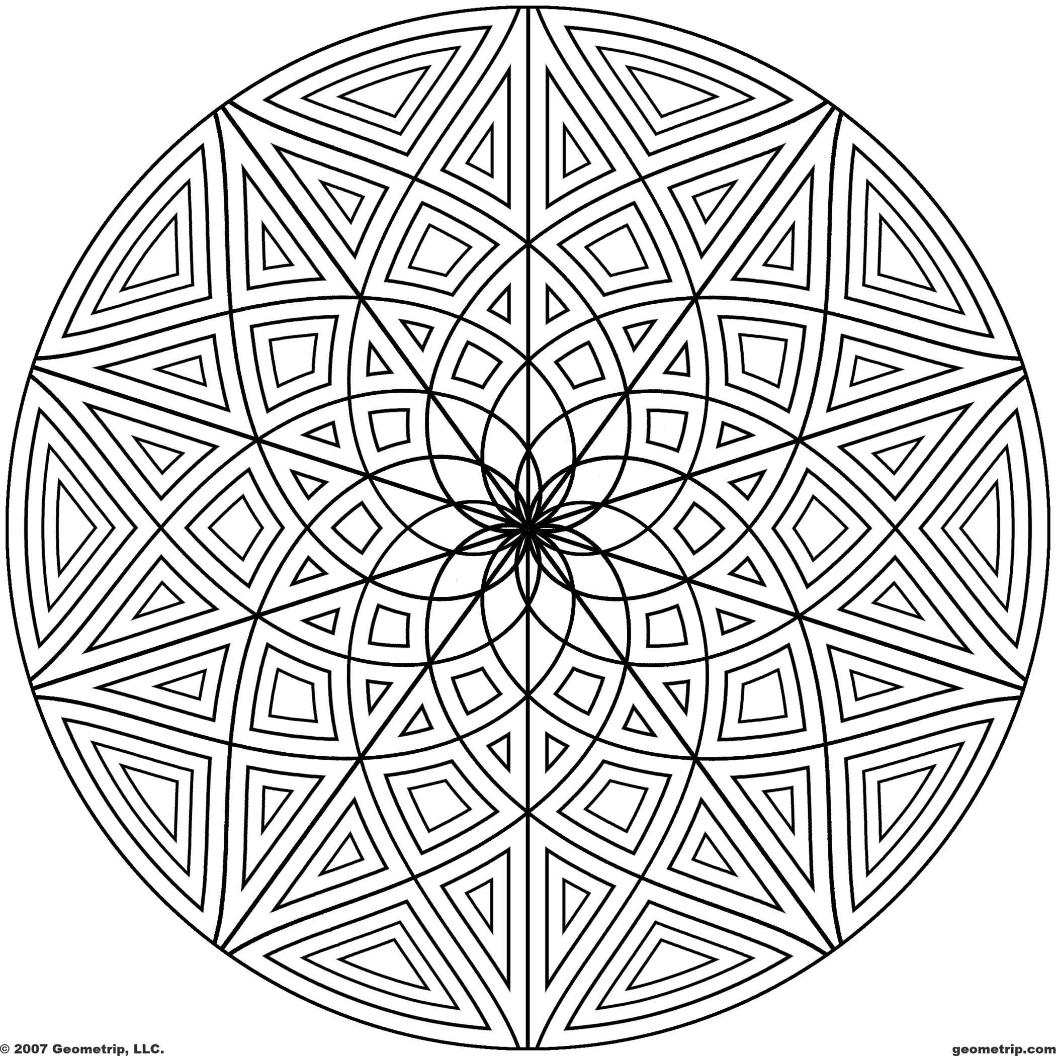 Best ideas about Geometric Coloring Pages For Adults . Save or Pin Geometric Design Coloring Pages Bestofcoloring Now.