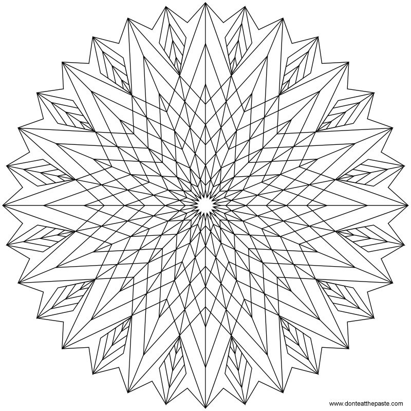Best ideas about Geometric Coloring Pages For Adults . Save or Pin Geometric Coloring Pages For Adults AZ Coloring Pages Now.