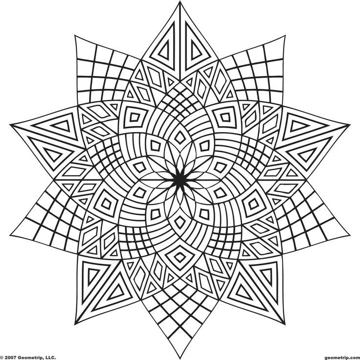 Best ideas about Geometric Coloring Pages For Adults . Save or Pin Geometric Mandala Coloring Pages Coloring Home Now.