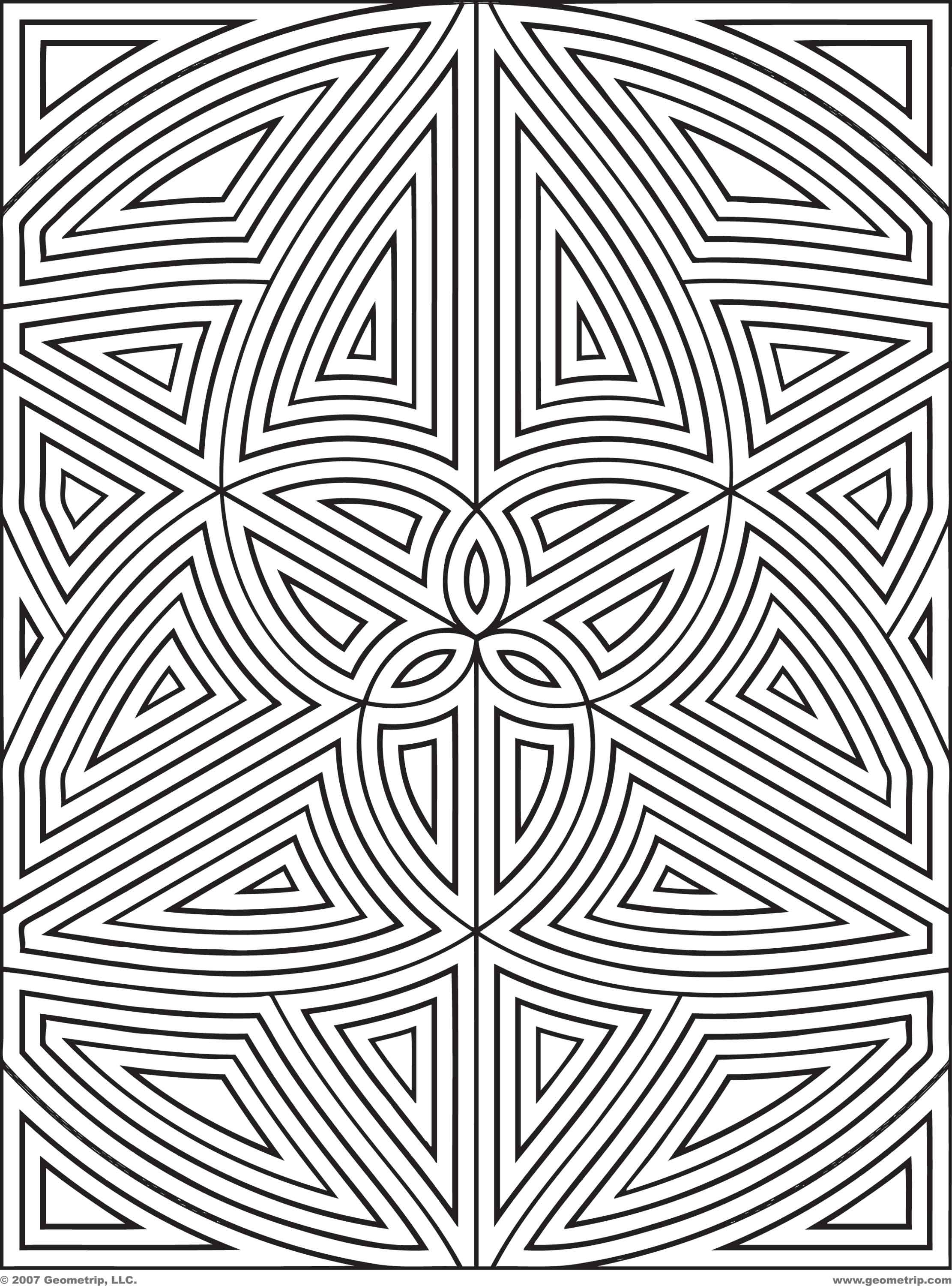 Best ideas about Geometric Coloring Pages For Adults . Save or Pin Many Geometric Pattern Coloring Pages for Adults Now.