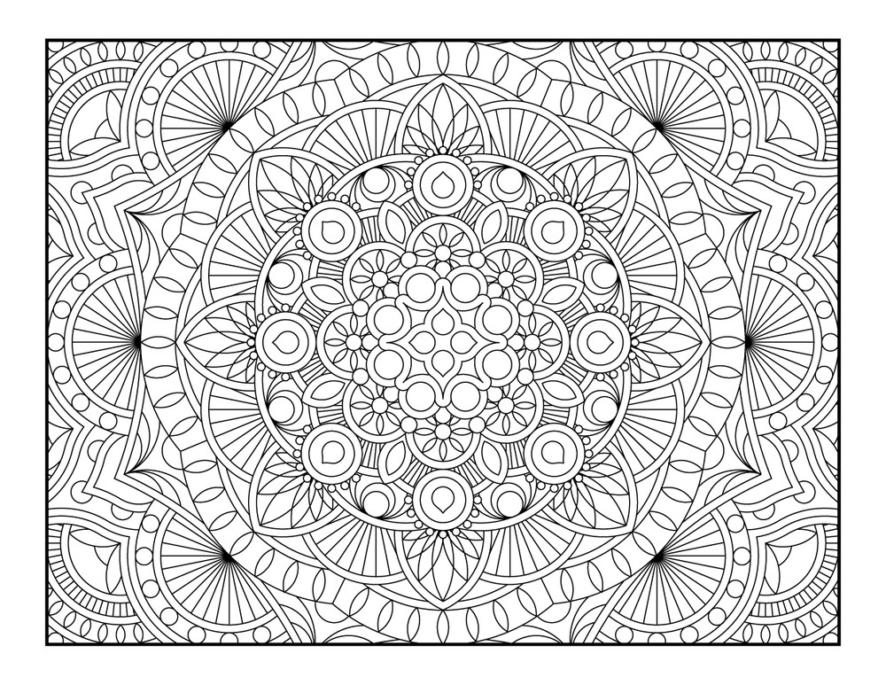 Best ideas about Geometric Coloring Pages For Adults . Save or Pin 41 Awesome and Free Geometric Coloring Pages for Adults Now.