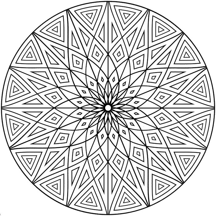 Best ideas about Geometric Coloring Pages For Adults . Save or Pin Free Geometric Coloring Pages For Adults Now.