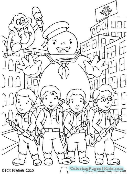 Ghostbuster Coloring Pages  Ghostbusters Printables Coloring Pages