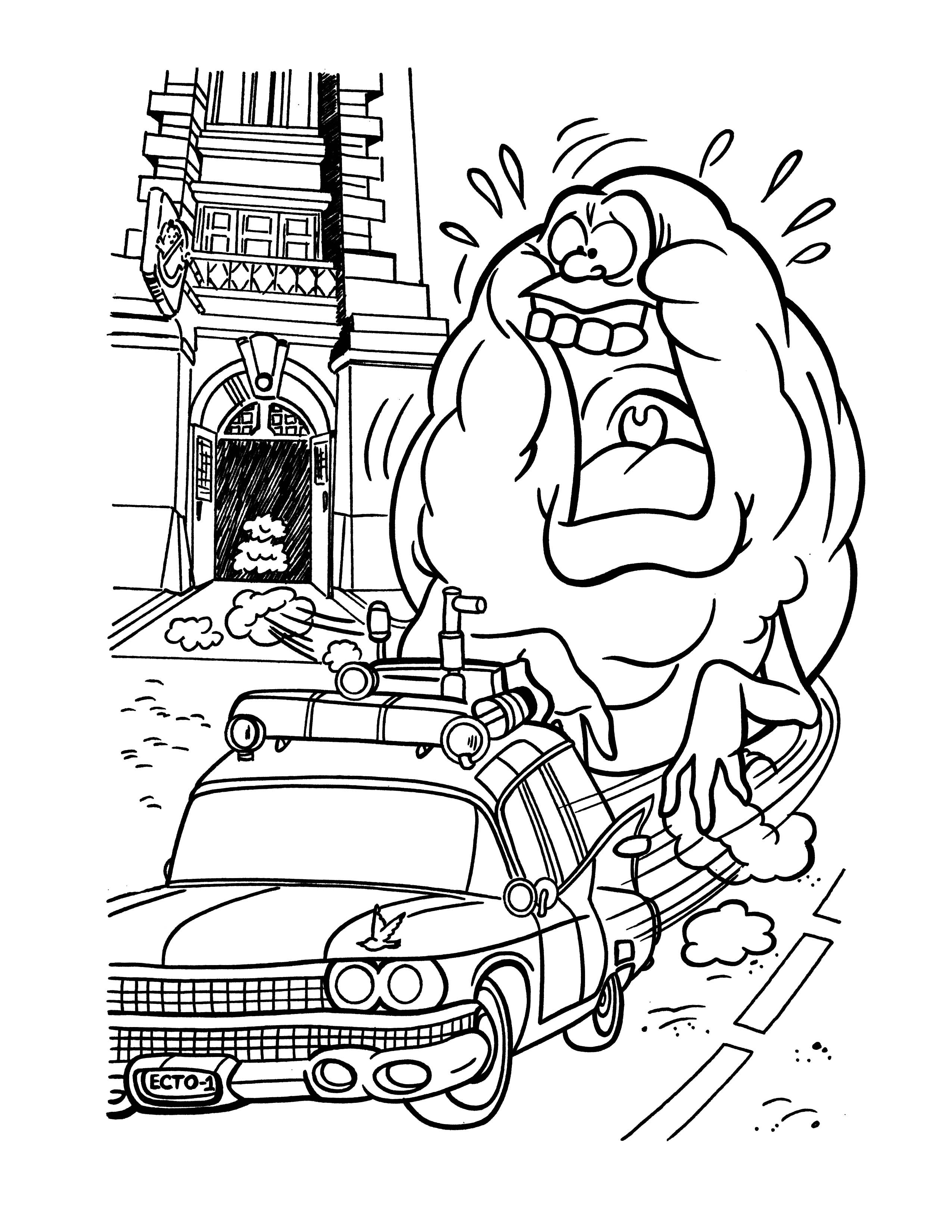Ghostbuster Coloring Pages  Free Printable Ghostbusters Coloring Pages For Kids