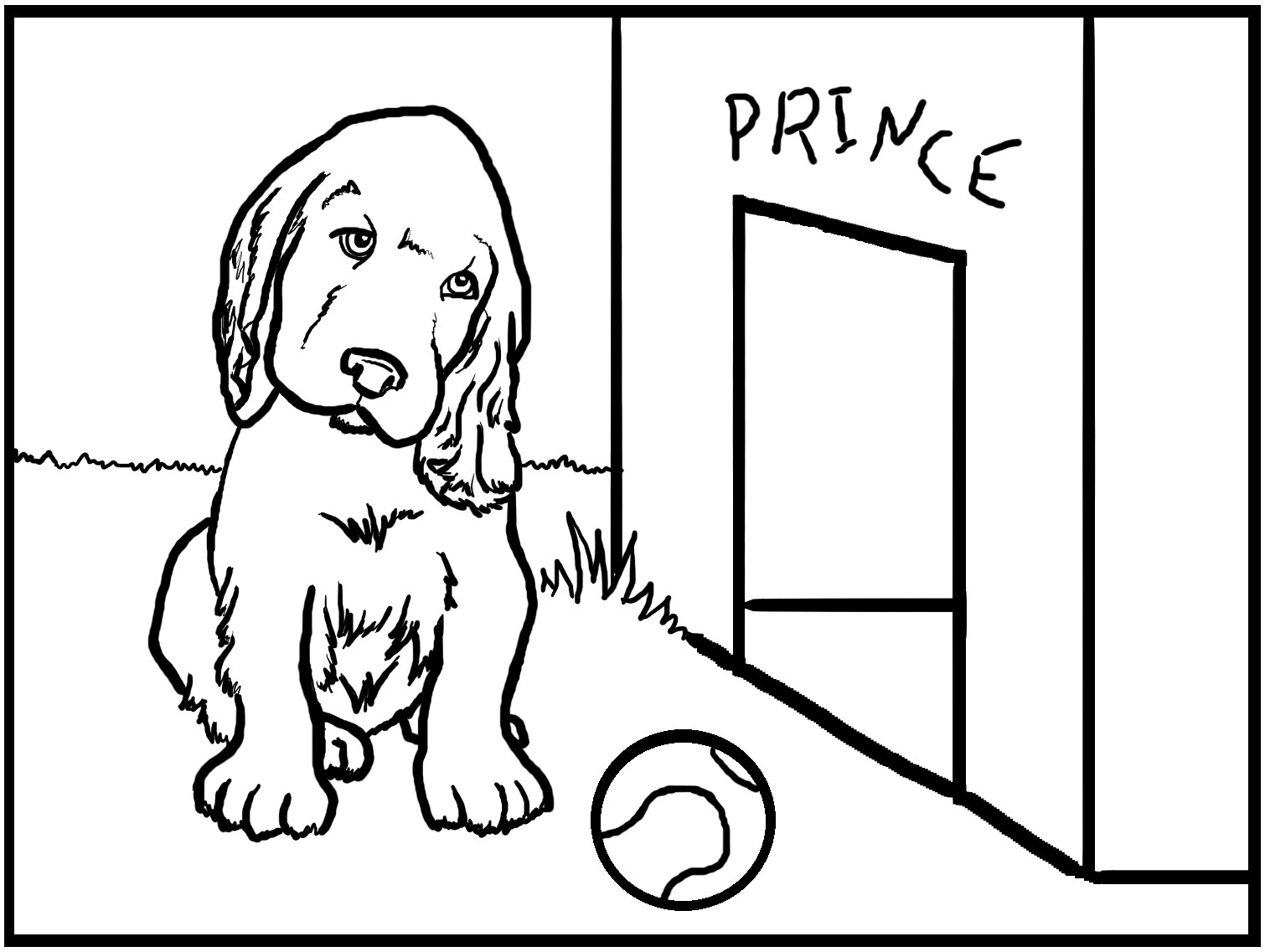 Giant Coloring Books For Toddlers  Big Dog Color Sheets Printable Coloring Pages
