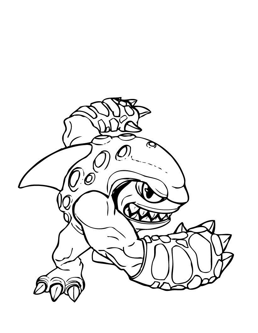 Giant Coloring Books For Toddlers  Free Printable Skylander Giants Coloring Pages For Kids