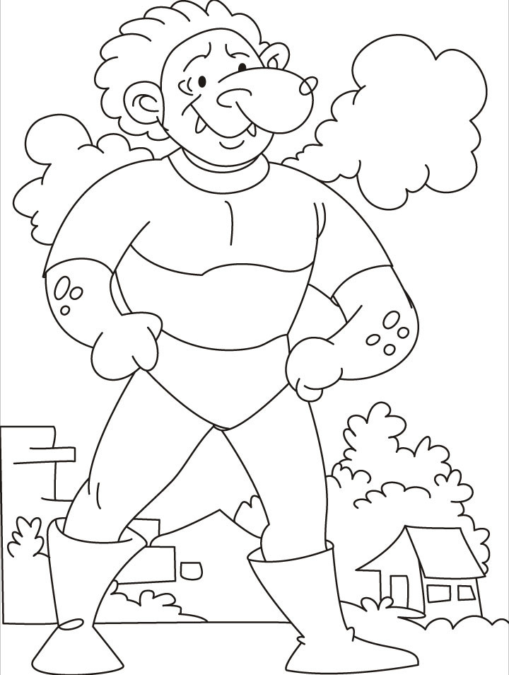 Giant Coloring Books For Toddlers  e test your strength says the tarzan giant coloring
