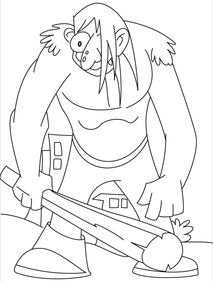 Giant Coloring Books For Toddlers  This giant really in a bad mood coloring pages