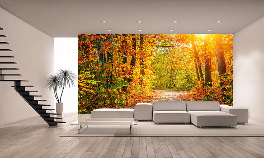 Best ideas about Giants Wall Art . Save or Pin Autumn Forest Wall Mural Wallpaper GIANT WALL DECOR Now.