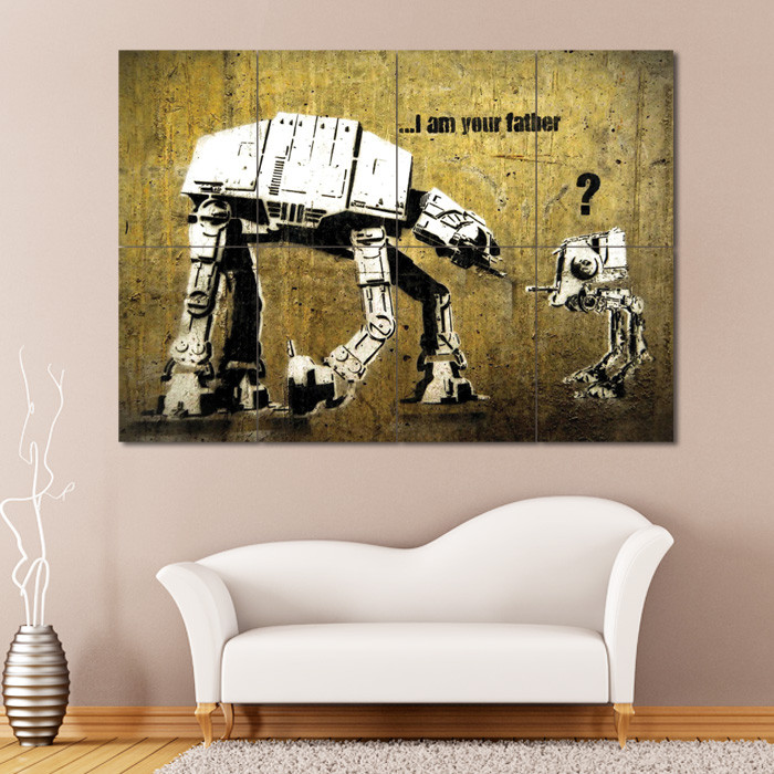 Best ideas about Giants Wall Art . Save or Pin Banksy Star Wars Block Giant Wall Art Poster Now.