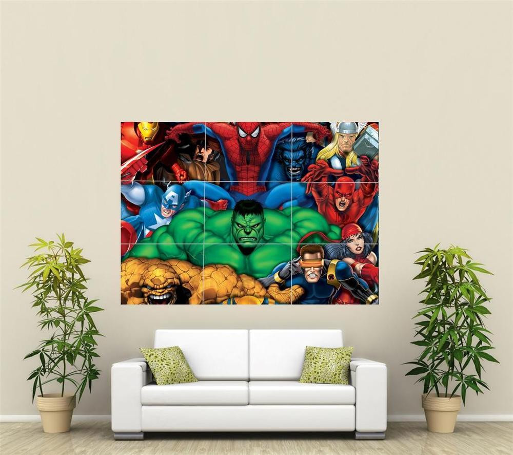 Best ideas about Giants Wall Art . Save or Pin Marvel Avengers Giant XL Section Wall Art Poster VG135 Now.