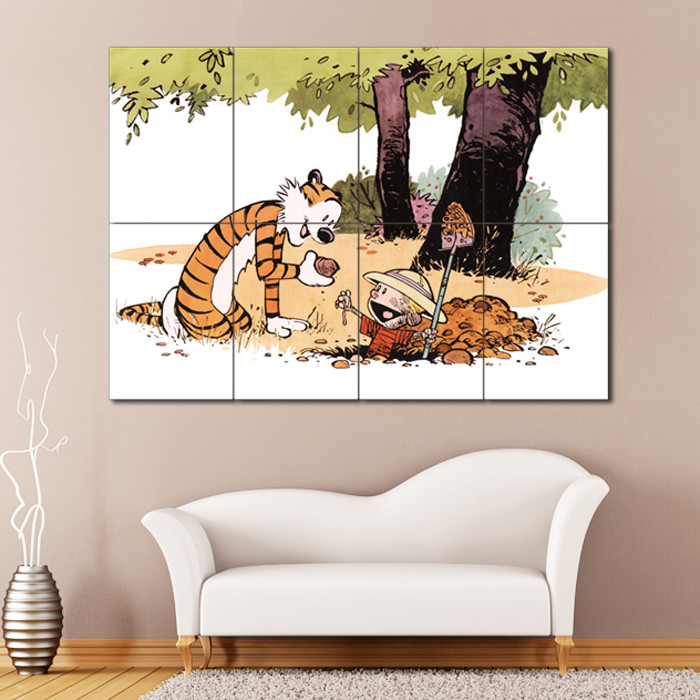 Best ideas about Giants Wall Art . Save or Pin Calvin and Hobbes 12 Block Giant Wall Art Poster Now.