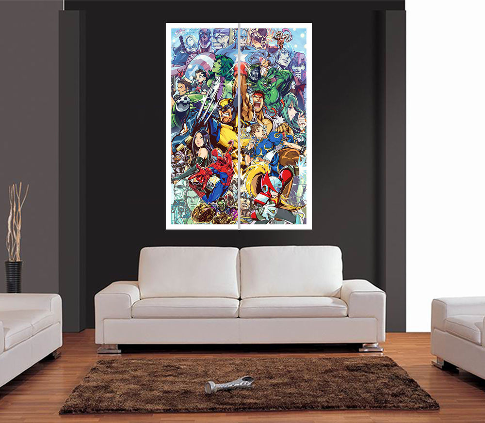 Best ideas about Giants Wall Art . Save or Pin MARVEL SUPER HEROES CARTOON STYLE Giant Wall Art Print Now.