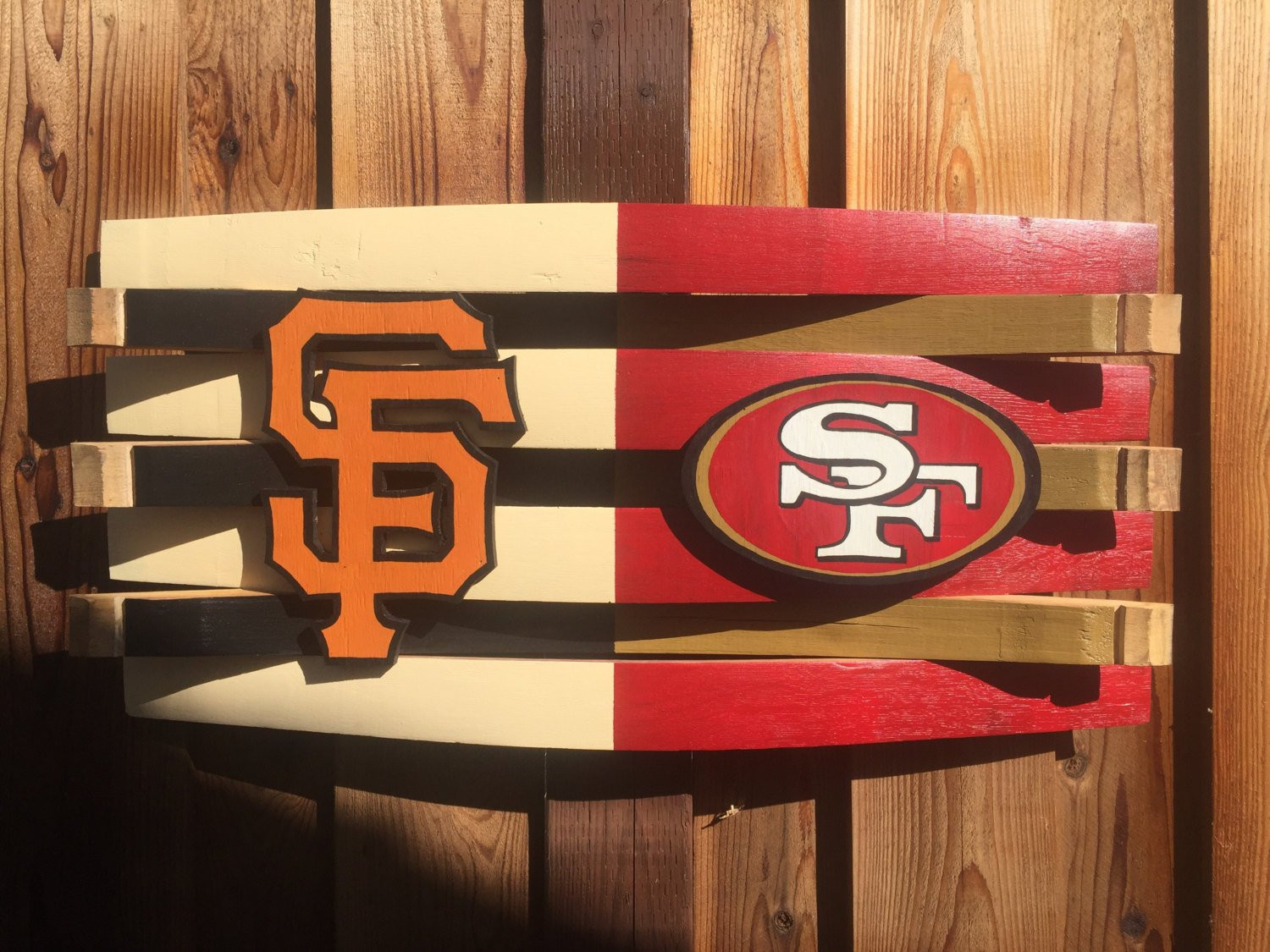 Best ideas about Giants Wall Art . Save or Pin Giants and 49ers Football Wall Decor Rustic Wooden Wall Art Now.
