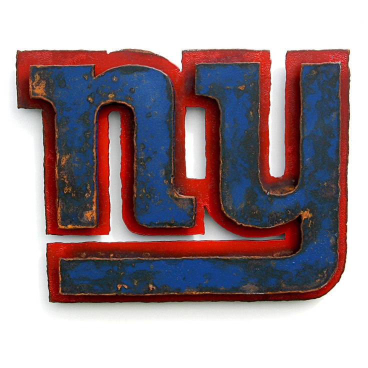 "Best ideas about Giants Wall Art . Save or Pin New York Giants 3D wall art 20"" wide metal emblem logo Now."