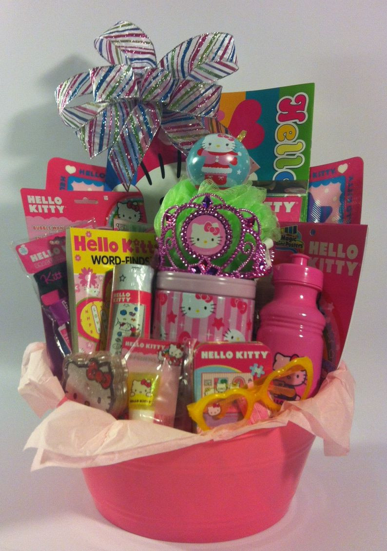 Gift Basket Ideas For Girls  Ultimate Hello Kitty Gift Basket for Girls Ages 3 10