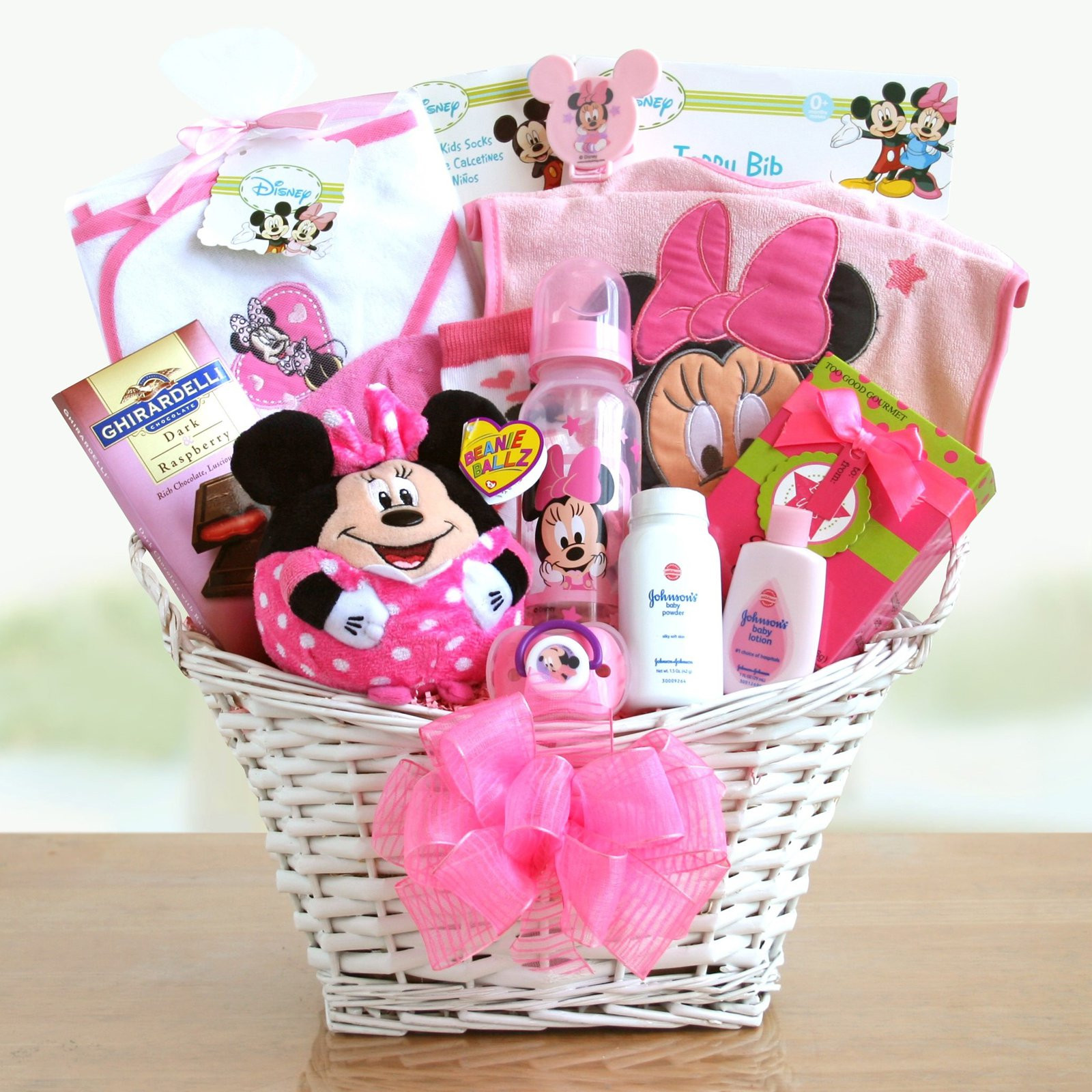 Gift Basket Ideas For Girls  Minnie Mouse Baby Girl Gift Basket Gift Baskets by