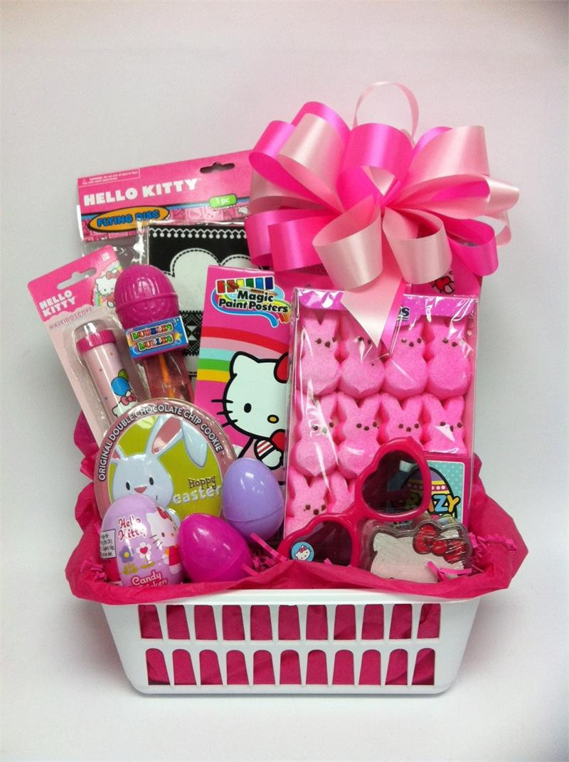 Gift Basket Ideas For Girls  Hello Kitty Easter Gift Basket for Girls