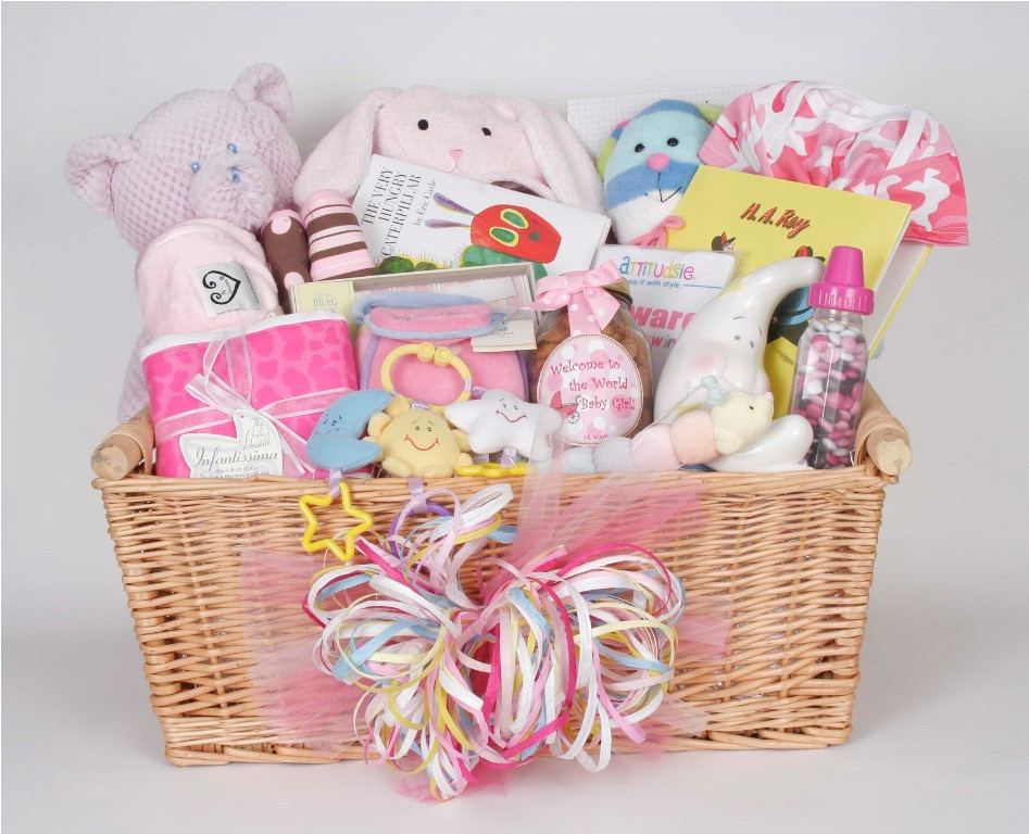 Gift Basket Ideas For Girls  Wonderful Baby Shower Basket Ideas