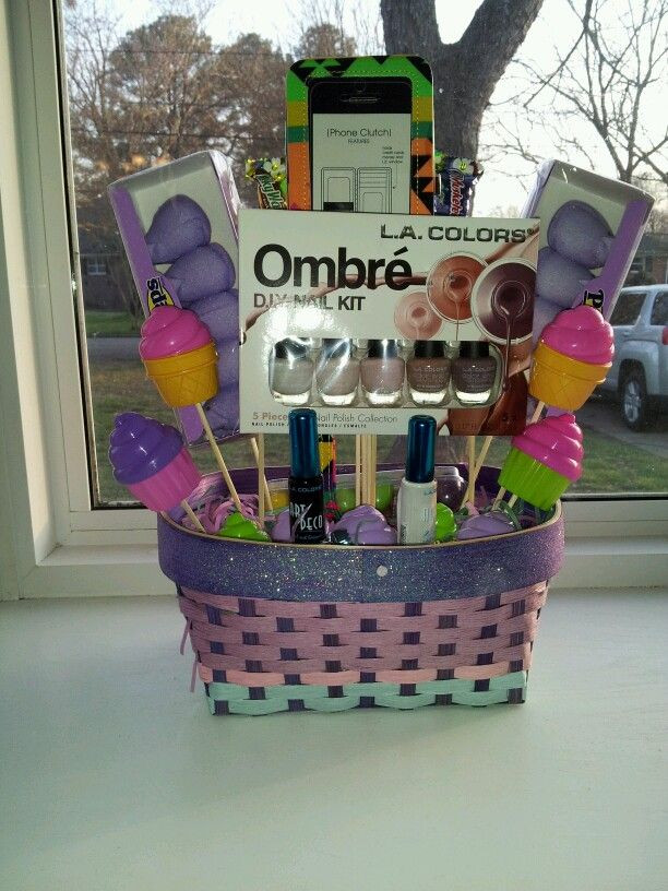 Best ideas about Gift Basket Ideas For Teenage Girls . Save or Pin Custom made Easter basket for a teenager Now.