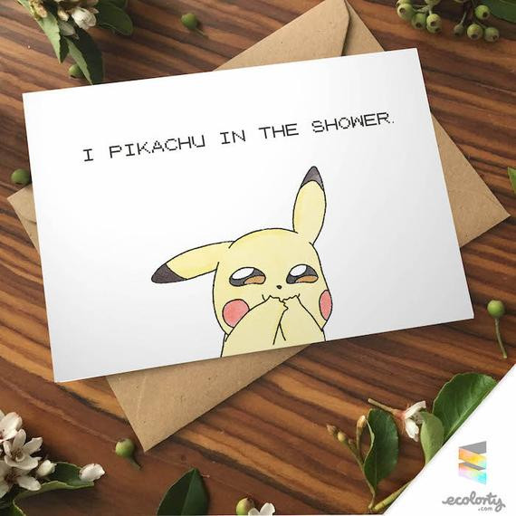 Best ideas about Gift Card Ideas For Couples . Save or Pin CHEEKY PIKACHU CARD Love Pokemon go greeting card I by Now.