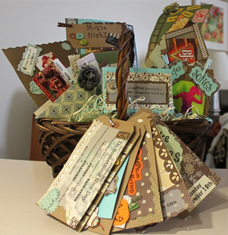 Best ideas about Gift Card Ideas For Couples . Save or Pin Date Basket for couples Includes some t cards but Now.